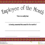21 Images Of Employe Of The Month Template   Unemeuf Throughout Employee Of The Month Certificate Template With Picture
