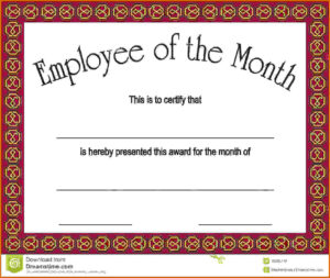 21 Images Of Employe Of The Month Template | Unemeuf throughout Employee Of The Month Certificate Template With Picture