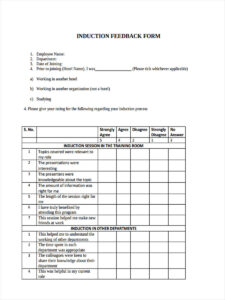 22+ Training Feedback Form Formats Inside Training Feedback Report Template