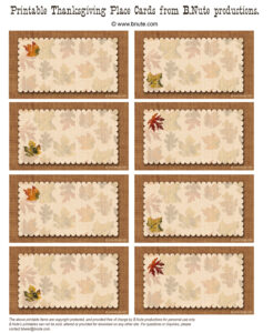 23 Images Of Printable Thanksgiving Seating Cards Template in Thanksgiving Place Cards Template