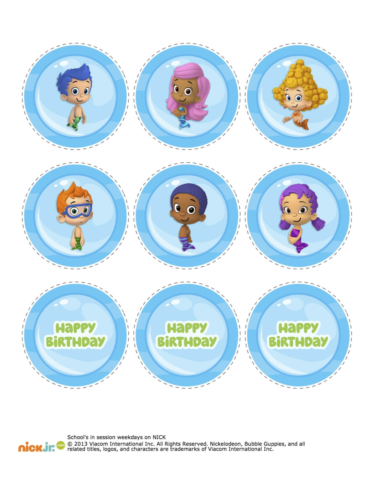24 Images Of Bubble Guppies Banner Template | Netpei With Regard To Bubble Guppies Birthday Banner Template