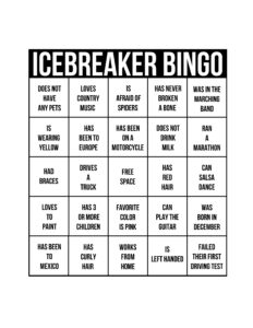 24 Images Of Icebreaker Bingo Game Template For Work within Ice Breaker Bingo Card Template