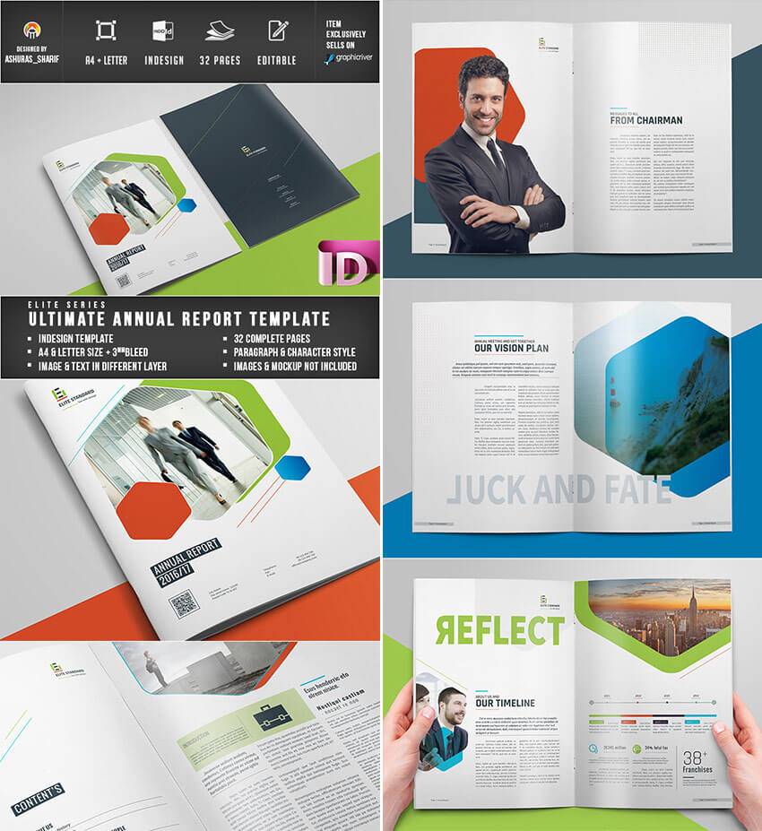 25+ Annual Report Templates - With Awesome Indesign Layouts Regarding Free Annual Report Template Indesign