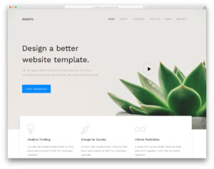 25+ Best Free Simple Website Templates For All Famous Niches throughout Blank Food Web Template
