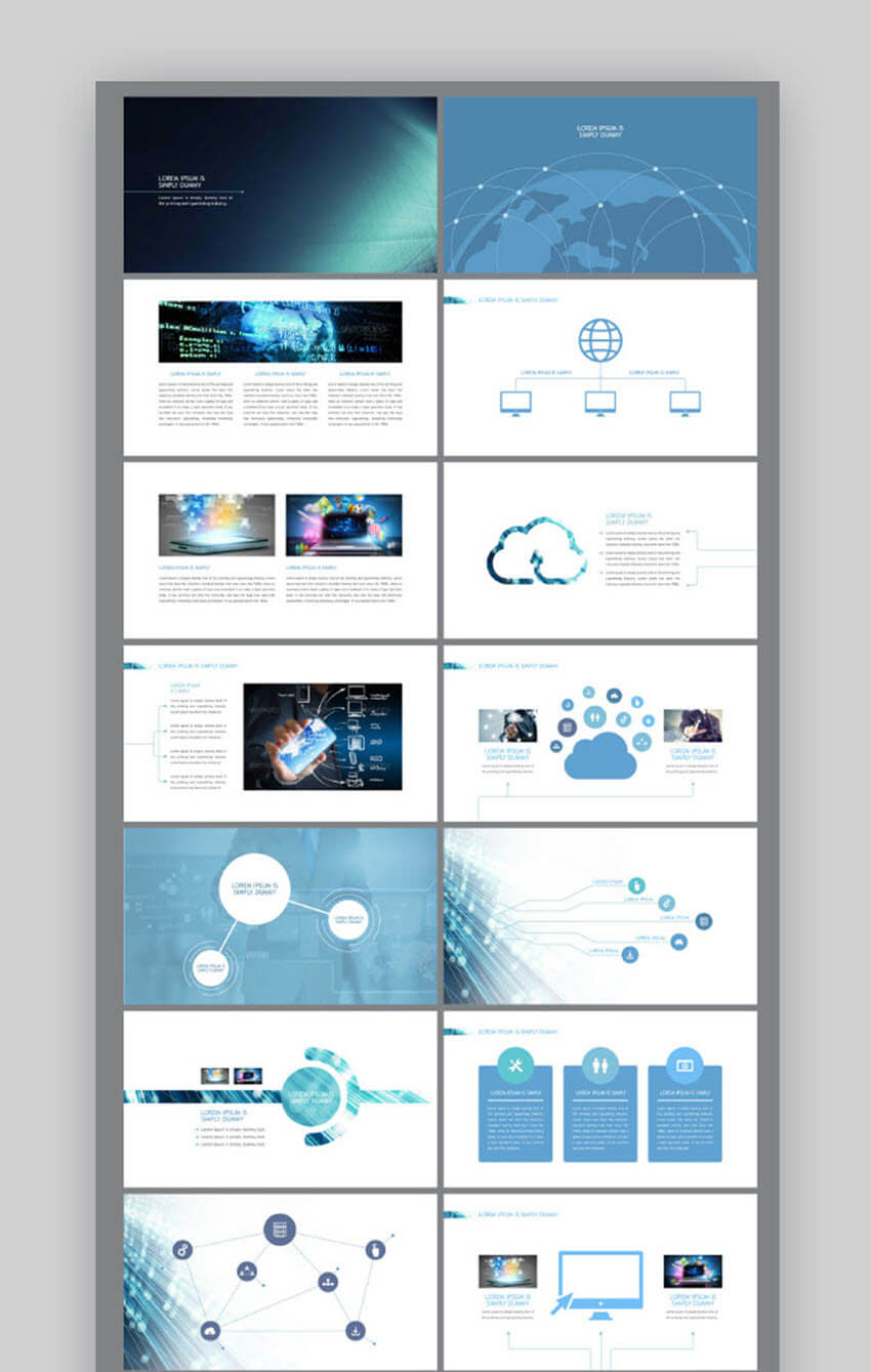 25 Best Science & Technology Powerpoint Templates With High Throughout Powerpoint Templates For Technology Presentations