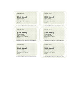 25 Cool Membership Card Templates & Designs (Ms Word) ᐅ regarding Template For Membership Cards