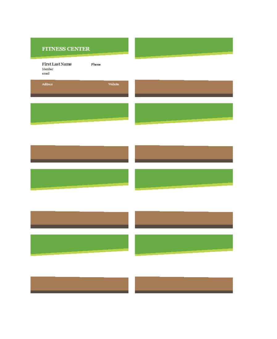 25 Cool Membership Card Templates & Designs (Ms Word) ᐅ With Regard To Template For Membership Cards