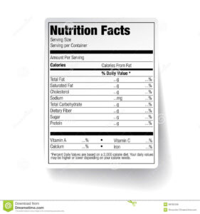 25 Images Of Empty Nutrition Label Template | Vanscapital within Blank Food Label Template