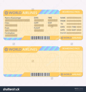 25 Images Of Free Boarding Pass Blank Template Word with Plane Ticket Template Word