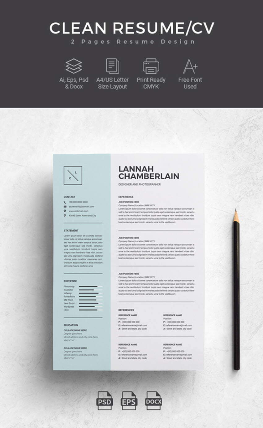 25+ Professional Ms Word Resume Templates With Simple With Microsoft Word Resumes Templates
