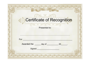 25 Useful Resources Of Certificate Of Recognition Template inside Free Template For Certificate Of Recognition