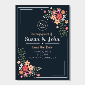 25Th Anniversary Invitation Card Template Birthday pertaining to Engagement Invitation Card Template