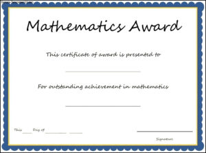 26 Images Of Calculus Certificate Template Free | Unemeuf Intended For Math Certificate Template