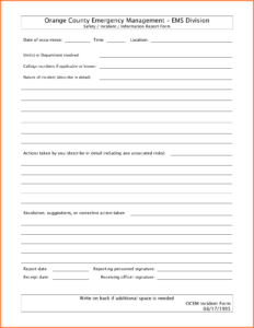 26 Images Of Free Blank Police Report Template | Unemeuf with regard to Blank Police Report Template