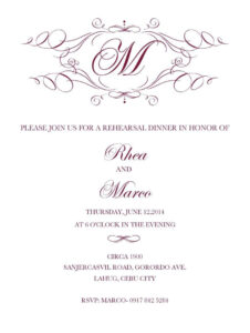 27+ Beautiful Photo Of Free Printable Wedding Invitations throughout Free Dinner Invitation Templates For Word