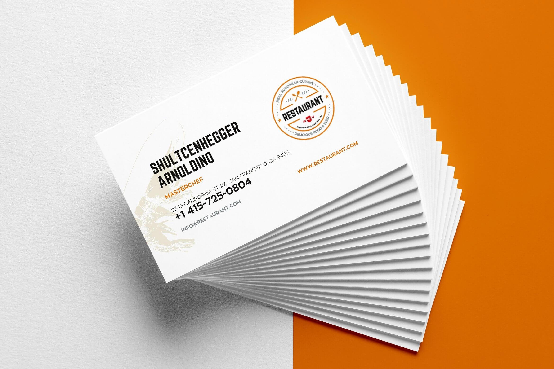 27+ Creative Restaurant Business Card Templates - Ai, Apple In Restaurant Business Cards Templates Free