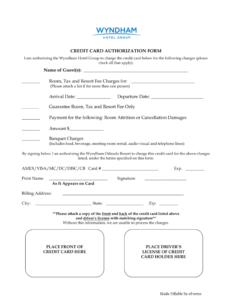 27+ Credit Card Authorization Form Template Download (Pdf regarding Hotel Credit Card Authorization Form Template