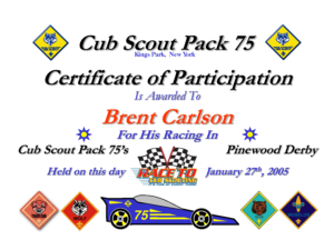 27 Images Of Boy Scout Pinewood Derby Award Template | Bfegy inside Pinewood Derby Certificate Template