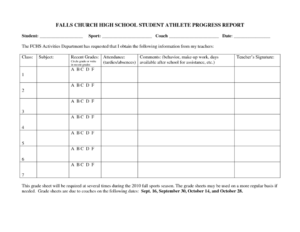 27 Images Of College Grade Report Template | Elcarco Within High School Progress Report Template