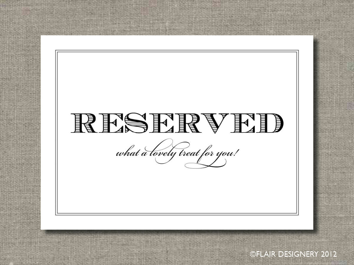 27 Images Of College Table Signs Template | Masorler Throughout Reserved Cards For Tables Templates