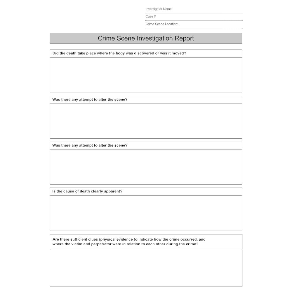 27 Images Of Crime Report Template Sample | Zeept Pertaining To Crime Scene Report Template
