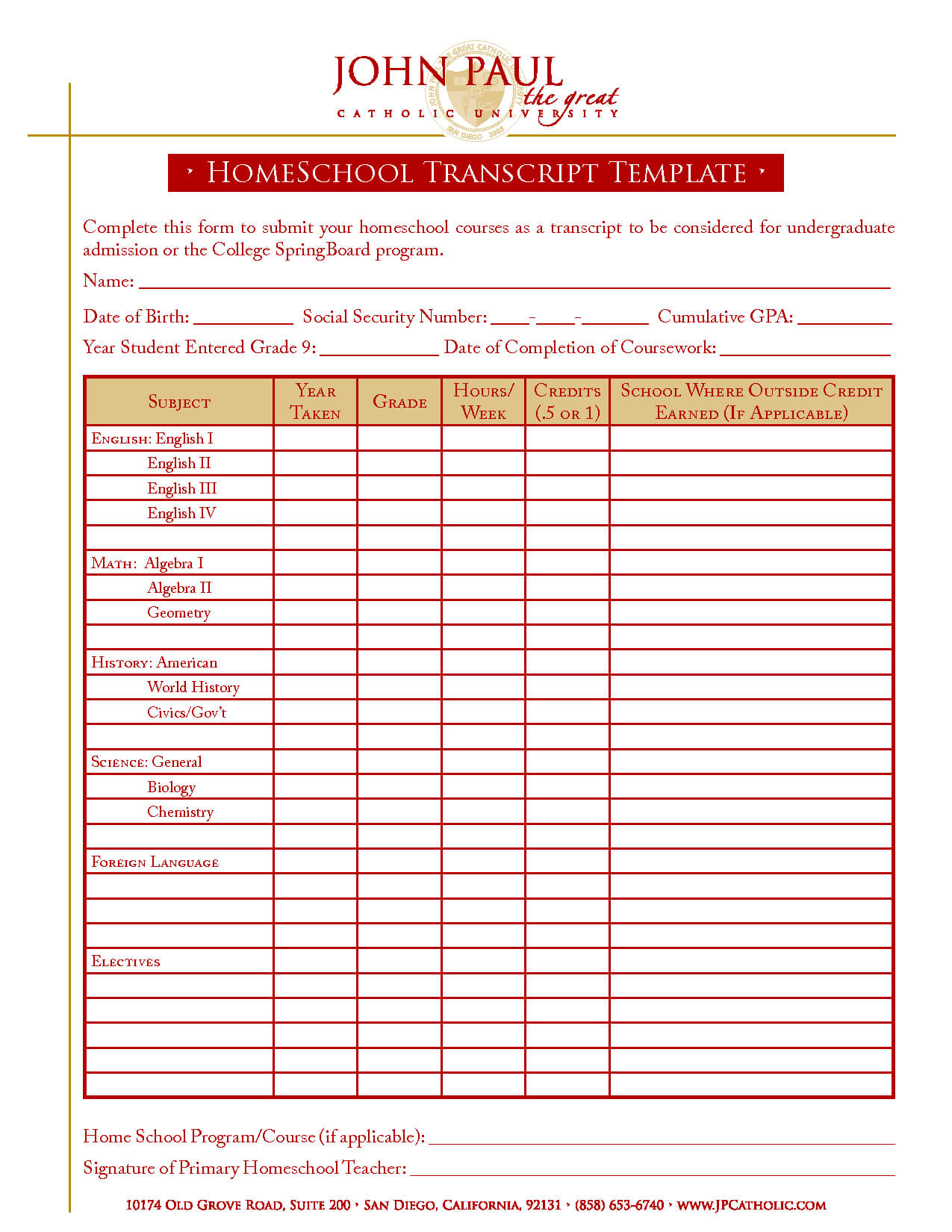 27 Images Of Home School Report Cards Template | Nategray Within Homeschool Report Card Template Middle School