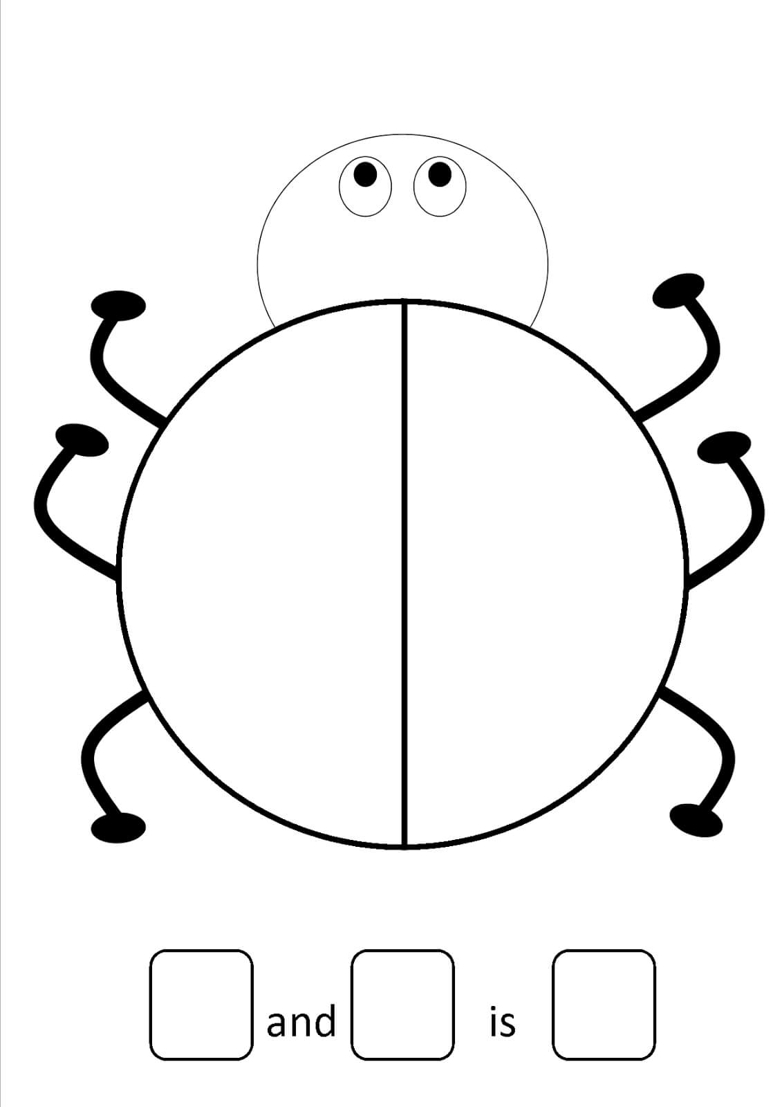 27 Images Of Large Ladybug Template Free   Zeept Regarding Blank Ladybug Template