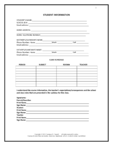 27 Images Of Student Information Form Template | Bfegy with regard to Student Information Card Template