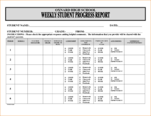 27 Images Of Student Progress Forms Template | Unemeuf for Student Progress Report Template