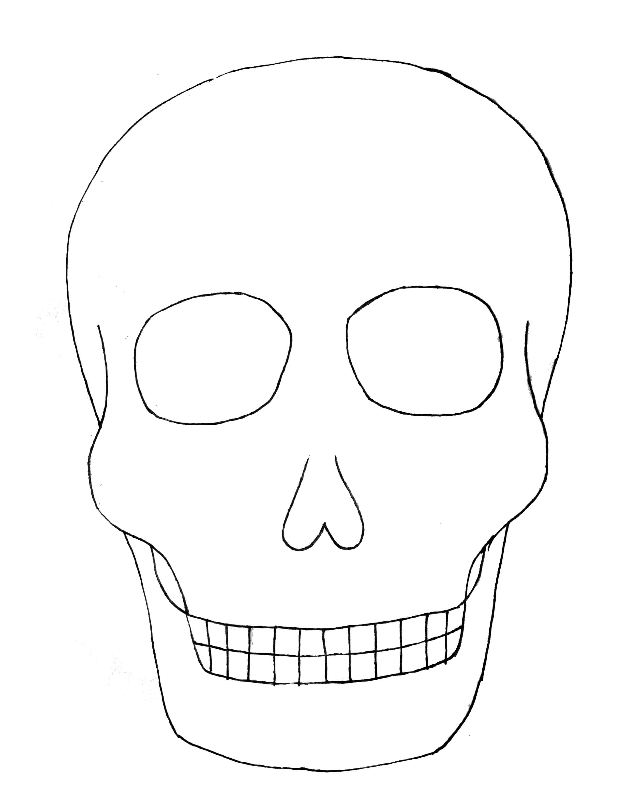 27 Images Of Sugar Skull Template Printable Blank | Unemeuf Pertaining To Blank Sugar Skull Template