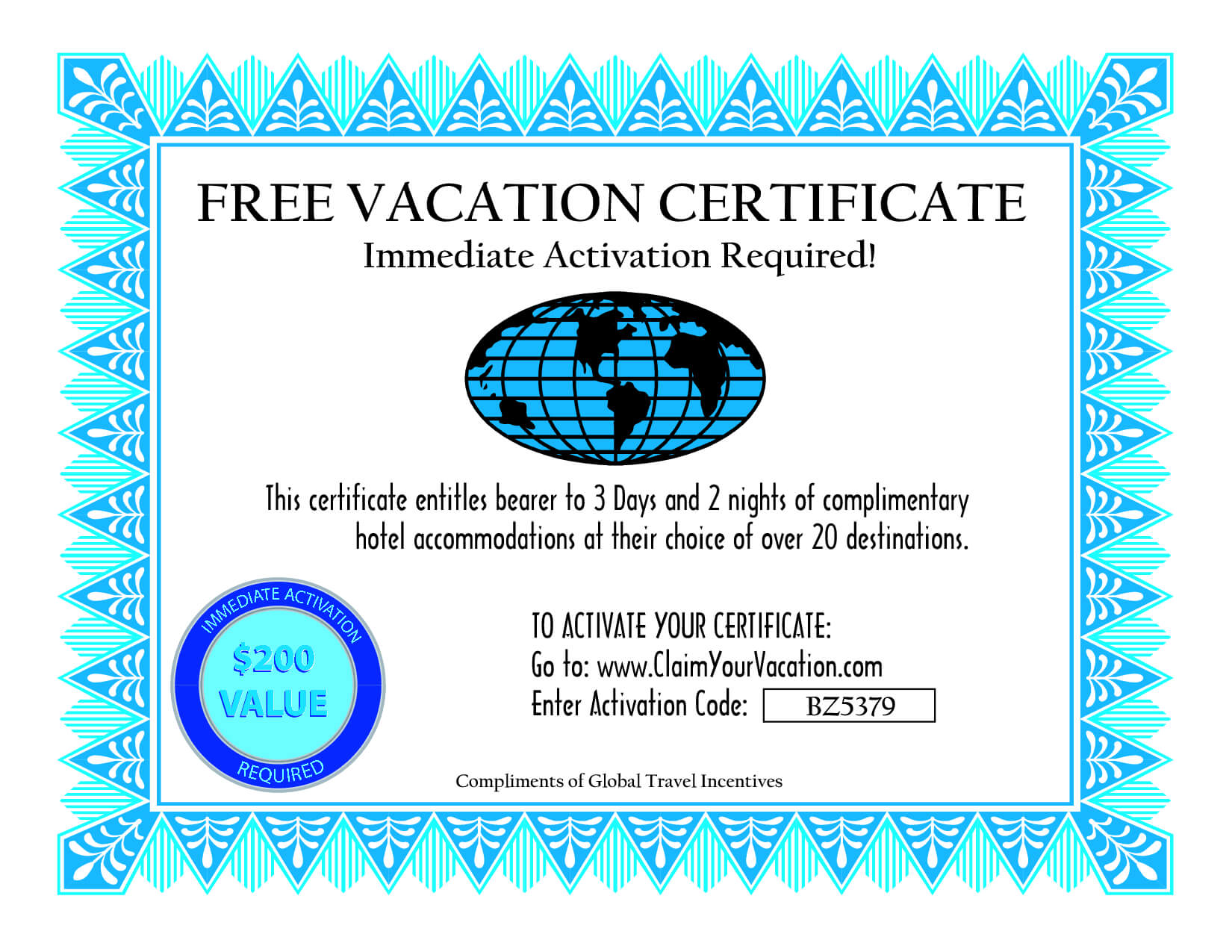 28 Images Of Beach Travel Gift Certificates Template | Bfegy For Free Travel Gift Certificate Template