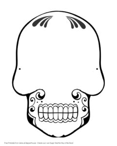 28 Images Of Sugar Skull Drawing Template | Zeept intended for Blank Sugar Skull Template