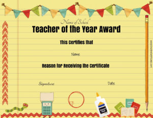 28 Images Of Teacher Appreciation Free Certificate Template in Teacher Of The Month Certificate Template