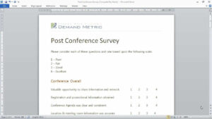 28 Images Of Template For Microsoft Conference Questionnaire throughout Event Survey Template Word