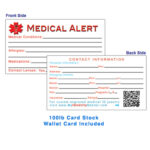 28 Images Of Wallet Id Card Template Sample | Bfegy Intended For Medical Alert Wallet Card Template