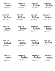 29 Images Of Acts Of Kindness Template | Unemeuf intended for Random Acts Of Kindness Cards Templates