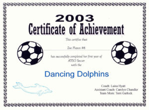 29 Images Of Blank Award Certificate Template Soccer with regard to Soccer Award Certificate Template