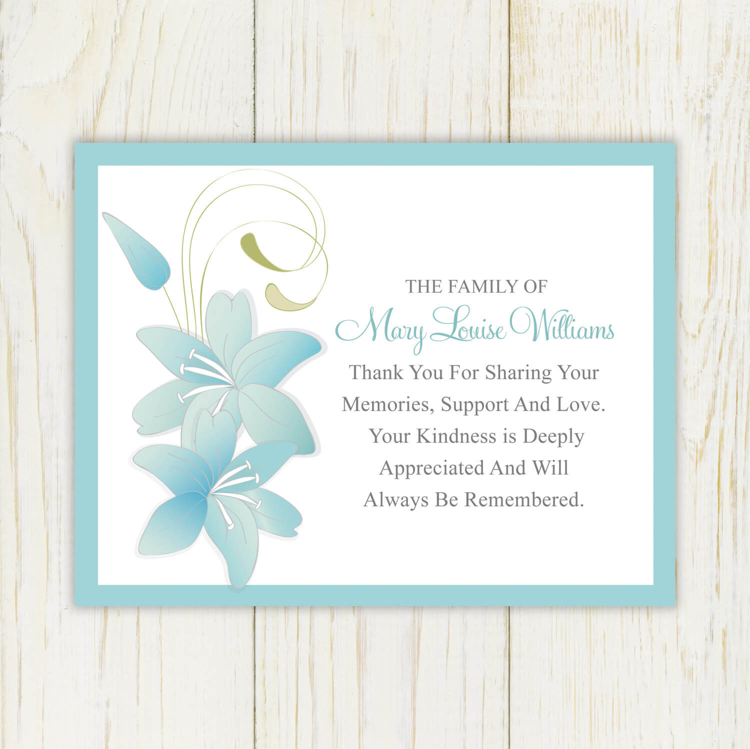 29 Images Of Condolences Thank You Template | Bfegy Throughout Sympathy Thank You Card Template