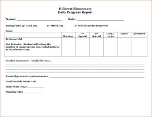 29 Images Of Student Behavior Progress Report Template with Daily Behavior Report Template