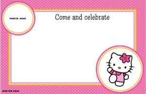 29 New 7Th Birthday Invitation Template Hello Kitty Photos throughout Hello Kitty Birthday Card Template Free