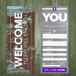 3.5×9 Psd Connection Card Template   Church Visitor Ideas Inside Church Visitor Card Template