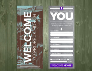 3.5×9 Psd Connection Card Template | Church Visitor Ideas inside Church Visitor Card Template