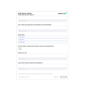 3 Best Examples: Daily Report Template   Free Templates Download throughout Daily Status Report Template Software Development