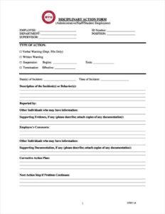3+ Disciplinary Report Templates – Pdf | Free & Premium inside Investigation Report Template Disciplinary Hearing