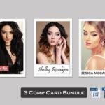 3 Model Comp Card Template Bundle | Modeling Comp Card Model Inside Zed Card Template