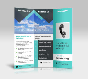 3 Panel Tri Fold Brochure Psd Mockups – Psd Mockups intended for Brochure Psd Template 3 Fold