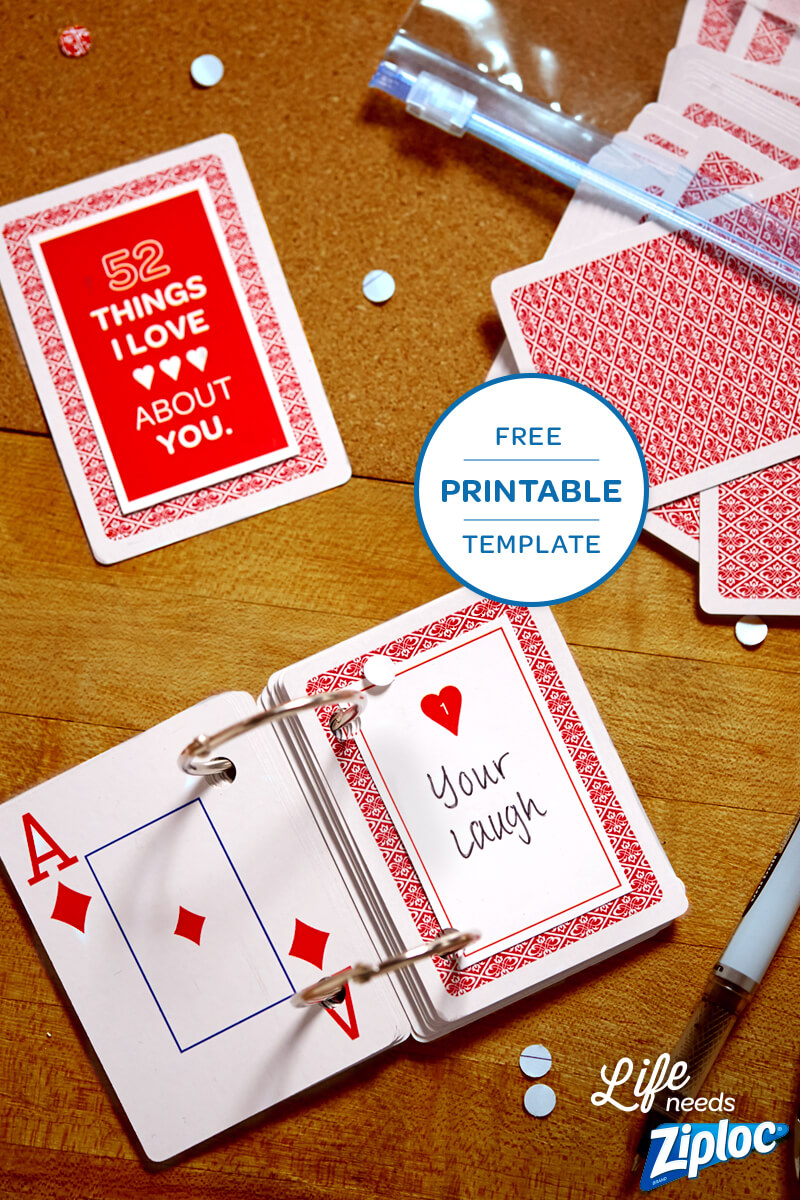 3 Small But Mighty Ways To Say I Love You | 52 Reasons Pertaining To 52 Things I Love About You Deck Of Cards Template