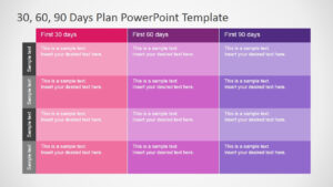 30 60 90 Days Plan Powerpoint Template for 30 60 90 Day Plan Template Powerpoint