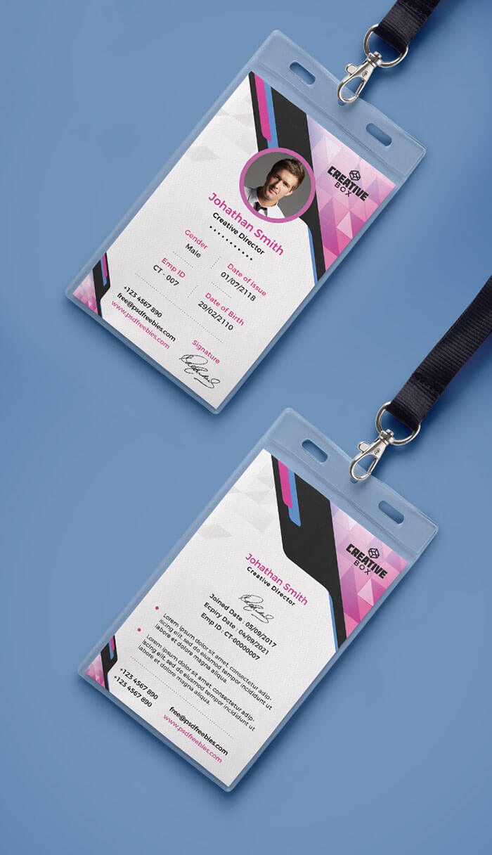 30+ Best Id Card And Lanyard Templates 2019 (Psd, Vector Intended For Conference Id Card Template
