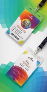 30+ Best Id Card And Lanyard Templates 2019 (Psd, Vector throughout Conference Id Card Template